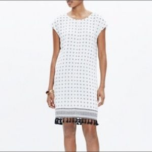 Madewell | Scatterblock tassel dress size M